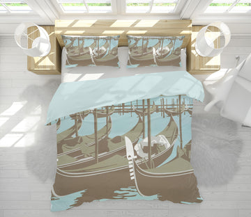 3D Venice 2076 Steve Read Bedding Bed Pillowcases Quilt