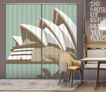 3D Sydney Opera House 164 Steve Read Curtain Curtains Drapes