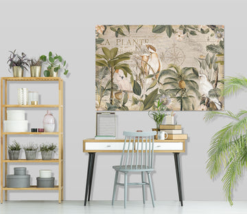 3D Forest Parrot 044 Andrea haase Wall Sticker