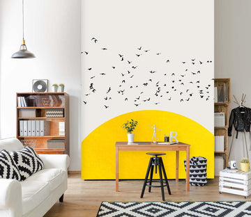 3D A Thousand Birds 1399 Boris Draschoff Wall Mural Wall Murals Wallpaper AJ Wallpaper