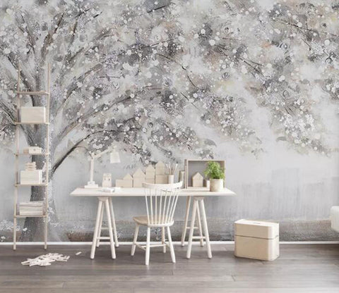 3D Small White Flower WG61 Wall Murals