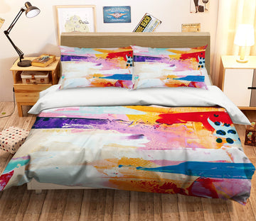 3D Abstract Color Pigment 078 Bed Pillowcases Quilt Wallpaper AJ Wallpaper