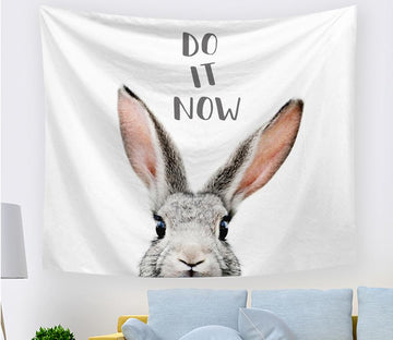 3D Big White Rabbit 2404 Tapestry Hanging Cloth Hang Tapestry AJ Creativity Home