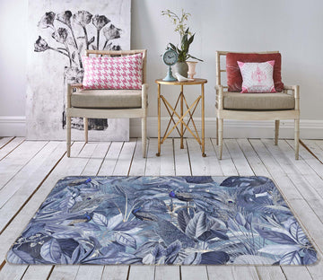 3D Night Leaves 1006 Andrea haase Rug Non Slip Rug Mat