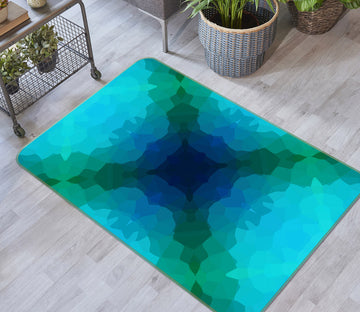 3D Shades Blue Green 71018 Shandra Smith Rug Non Slip Rug Mat