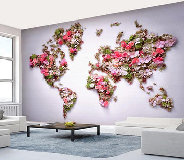 3D Flower 139 Wall Murals
