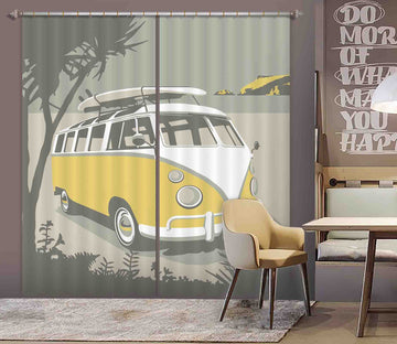 3D Polzeath Camper 131 Steve Read Curtain Curtains Drapes