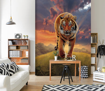 3D Rising Tiger 1543 Wall Murals Exclusive Designer Vincent