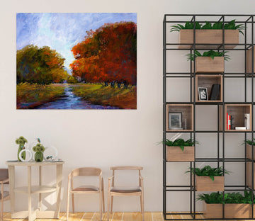 3D Forest River 001 Michael Tienhaara Wall Sticker