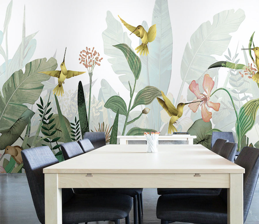 3D Forest Leaves WG268 Wall Murals