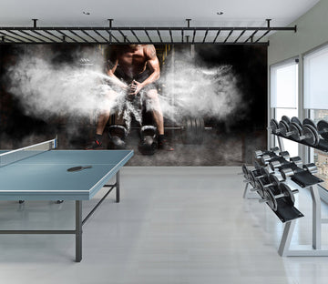 3D Dumbbell Boy 291 Wall Murals