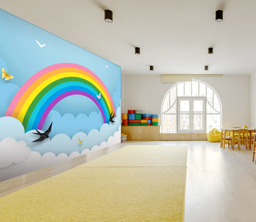 3D Rainbow Butterfly 287 Wall Murals