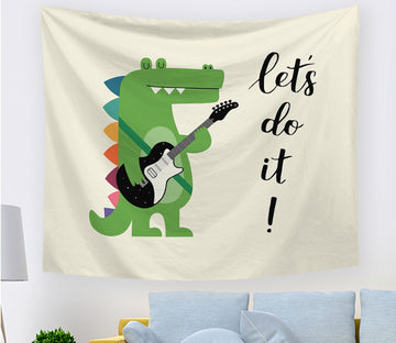 3D Dinosaur Music 2413 Tapestry Hanging Cloth Hang