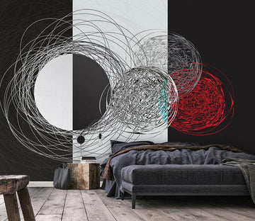 3D Abstract Circle 338 Wall Murals Wallpaper AJ Wallpaper 2