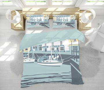 3D Padstow  2035 Steve Read Bedding Bed Pillowcases Quilt