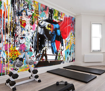 3D Super hero 03 Wall Murals