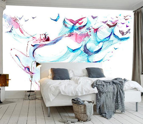 3D Abstract Bird 518 Wall Murals Wallpaper AJ Wallpaper 2