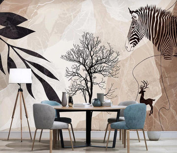 3D Black Dead Tree In The Center 2591 Wall Murals