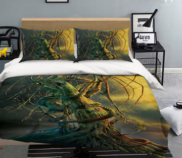 3D Tree Dragon 093 Bed Pillowcases Quilt Exclusive Designer Vincent