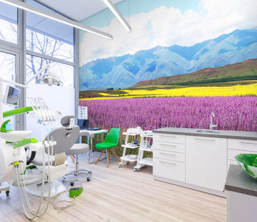 3D Mountain Lavender 315 Wall Murals