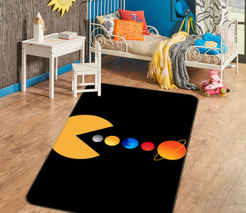3D Monster Colorful Ball 1145 Boris Draschoff Rug Non Slip Rug Mat