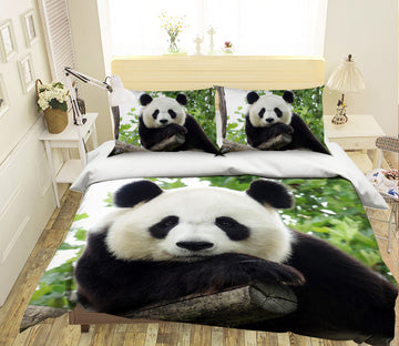 3D Panda Tree 127 Bed Pillowcases Quilt