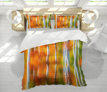 3D Orange Reflection 129 Marco Carmassi Bedding Bed Pillowcases Quilt