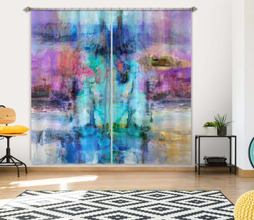 3D Blue Sea 224 Michael Tienhaara Curtain Curtains Drapes