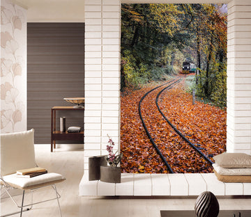 3D Maple Leaf Railway 433 Vehicle Wall Murals