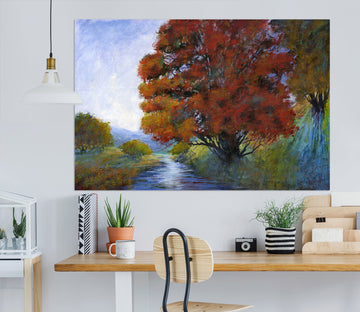 3D Forest River 11 Michael Tienhaara Wall Sticker