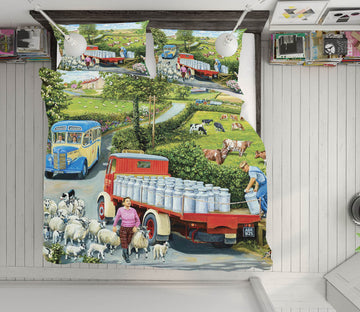 3D The Country Bus 2059 Trevor Mitchell bedding Bed Pillowcases Quilt