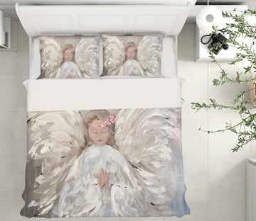 3D Angel Praying 117 Debi Coules Bedding Bed Pillowcases Quilt