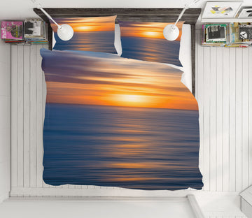 3D Sunrise Sea 2128 Marco Carmassi Bedding Bed Pillowcases Quilt