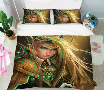 3D Blond Prince 438 CG Anime Bed Pillowcases Duvet Cover Quilt Cover