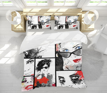 3D Sunglasses Model 020 Bed Pillowcases Quilt