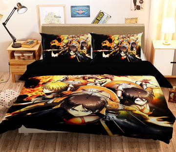 3D Attack On Titan 1657 Anime Bed Pillowcases Quilt Quiet Covers AJ Creativity Home