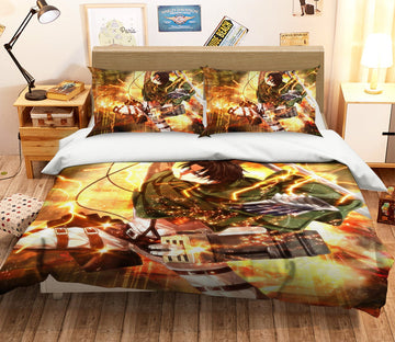 3D Attack On Titan 1653 Anime Bed Pillowcases Quilt Quiet Covers AJ Creativity Home