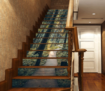 3D Forest Lane 3421 Stair Risers Wallpaper AJ Wallpaper
