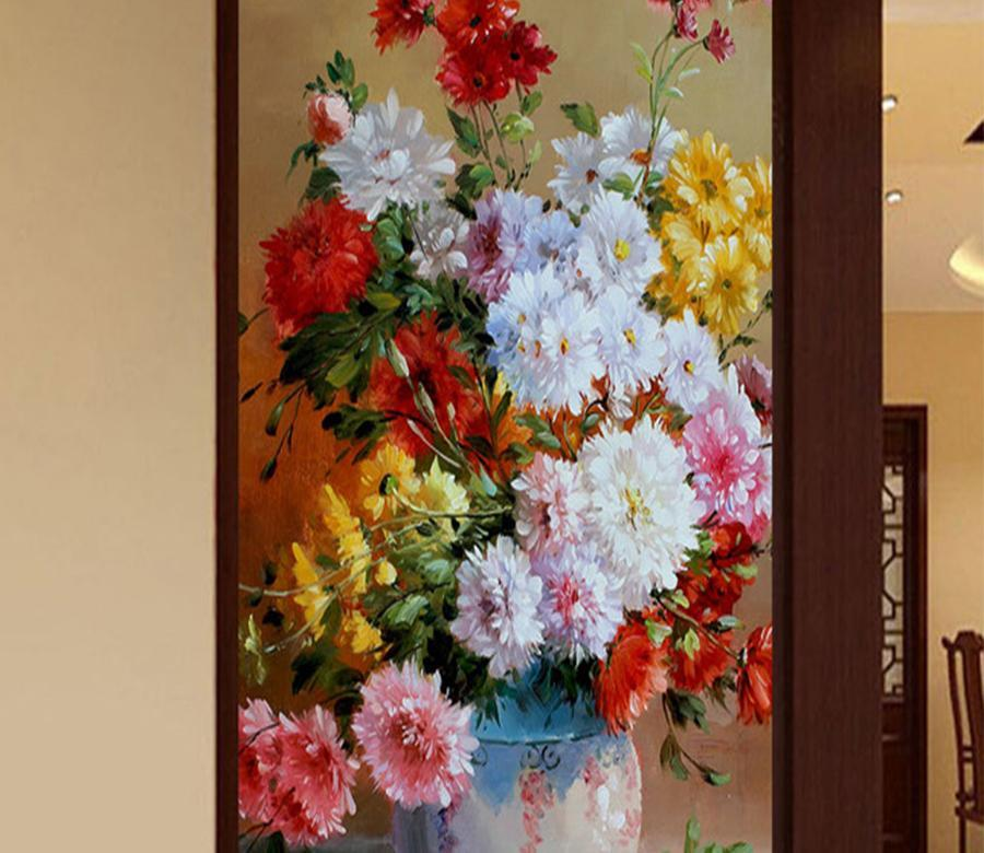 3D Flower Basket 628 Wall Murals Wallpaper AJ Wallpaper 2