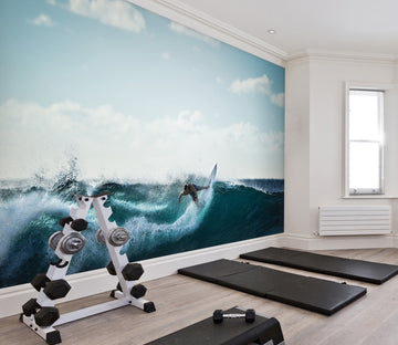 3D Sea Surfing 315 Wall Murals