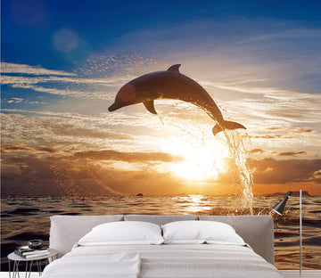 Jumping Dolphin 1 Wallpaper AJ Wallpaper