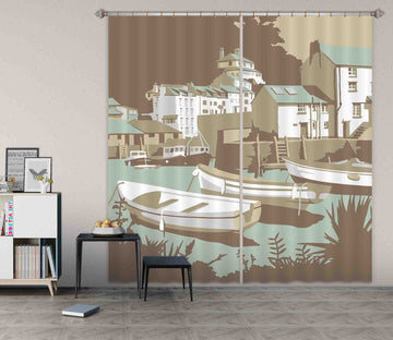3D Polperro 130 Steve Read Curtain Curtains Drapes
