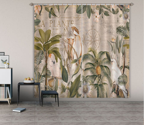 3D Bird Forest 083 Andrea haase Curtain Curtains Drapes