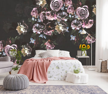 3D Purple Rose 119 Wall Murals