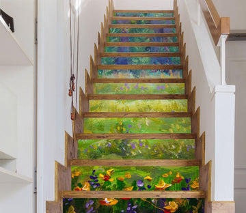3D Oil Paiting Field 347 Stair Risers Wallpaper AJ Wallpaper