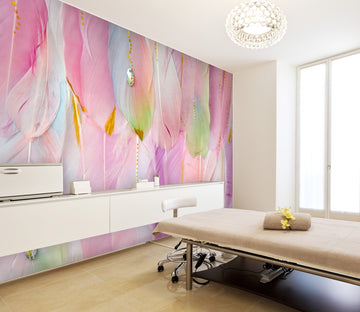 3D Pink Feather 093 Wall Murals