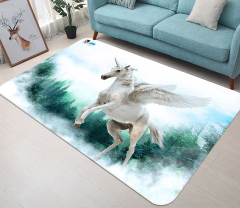 3D Wing Unicorn 14 Non Slip Rug Mat Mat AJ Creativity Home