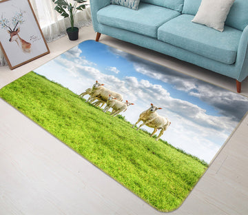 3D Qingqing Grassland Sheep 629 Animal Non Slip Rug Mat Mat AJ Creativity Home