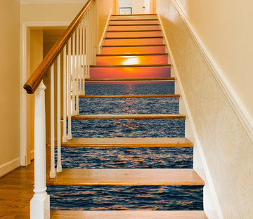 3D Psychedelic Sunset 620 Stair Risers