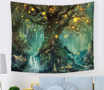 3D Forest Lights 1772 Tapestry Hanging Cloth Hang